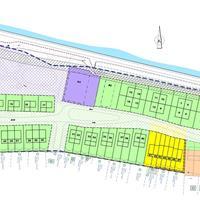 Zone sociale woningen in geel